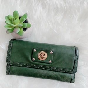 Marc by Marc Jacobs Green leather wallet